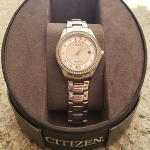 Ladies' Citizen Crystal Pink Dial Watch